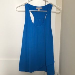 Beautiful blue racerback silk tank from Banana